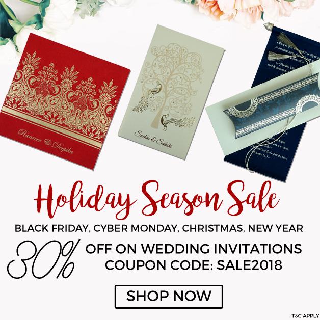 Holiday Season Sale Flat 30% Off-IndianWeddingCards