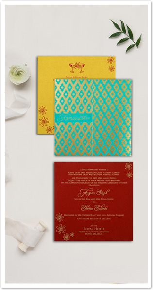 PINK MATTE LASER CUT WEDDING INVITATION : CD-1771-IndianWeddingCards
