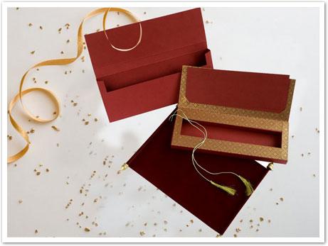 RED VELVET WEDDING INVITATION : CSC-5008D-IndianWeddingCards