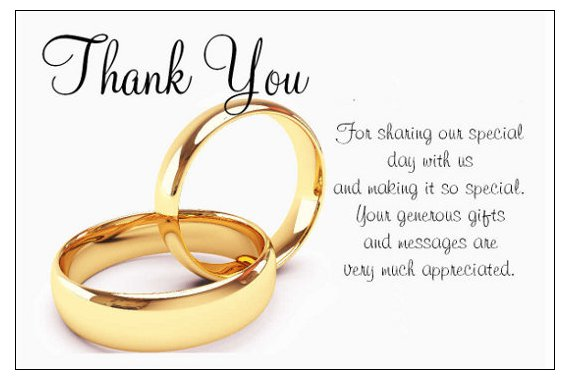 Wedding Gift Thank You Note: Show Gratitude To Your Loved Ones With Thank You Cards