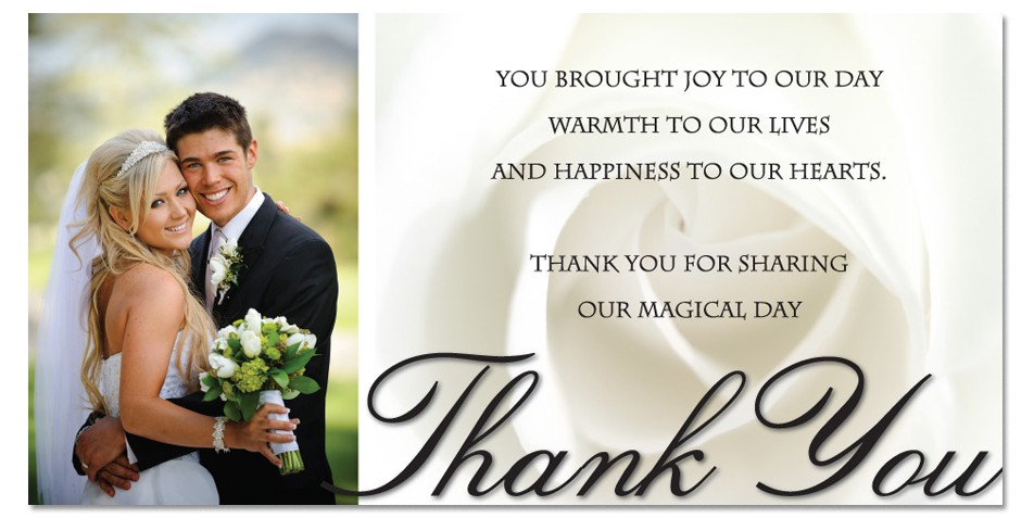 Writing Wedding Gift Thank You Cards : in case you have financial constraint you can send thank