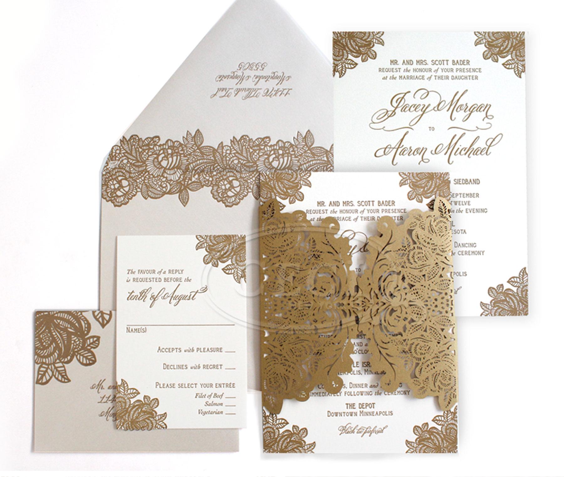 Laser Cut Wedding Invitations   Letterpress Invitations ...