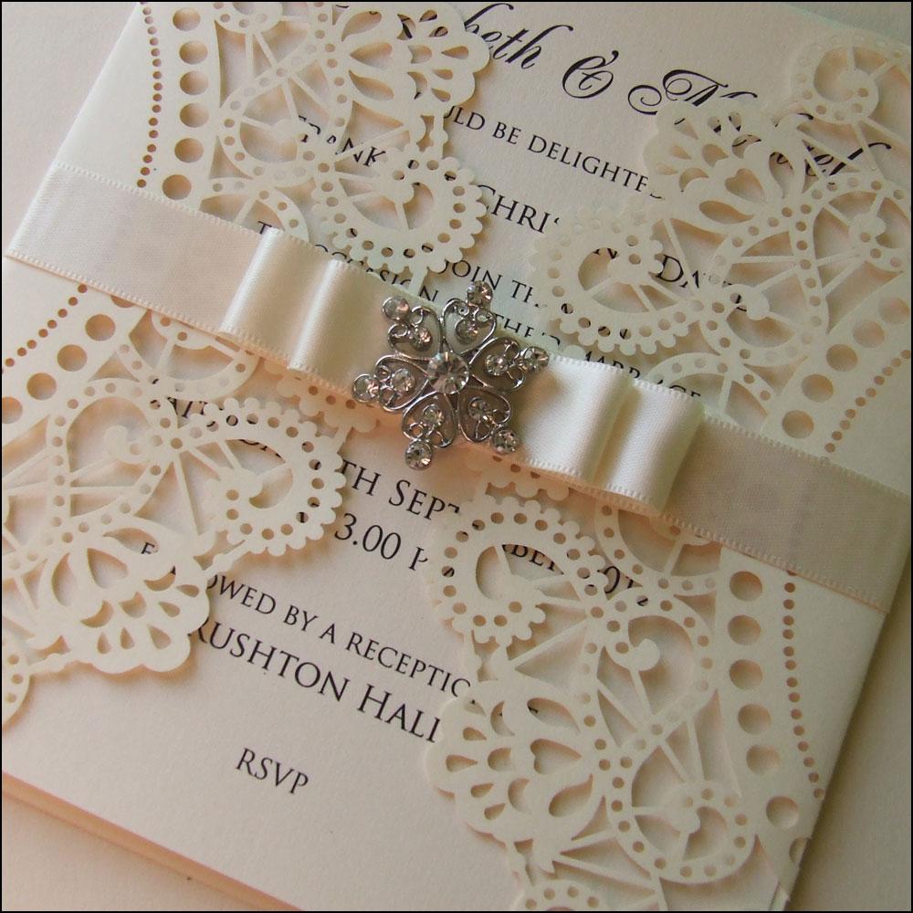 Laser cut wedding invitations letterpress invitations for Invitation card for engagement