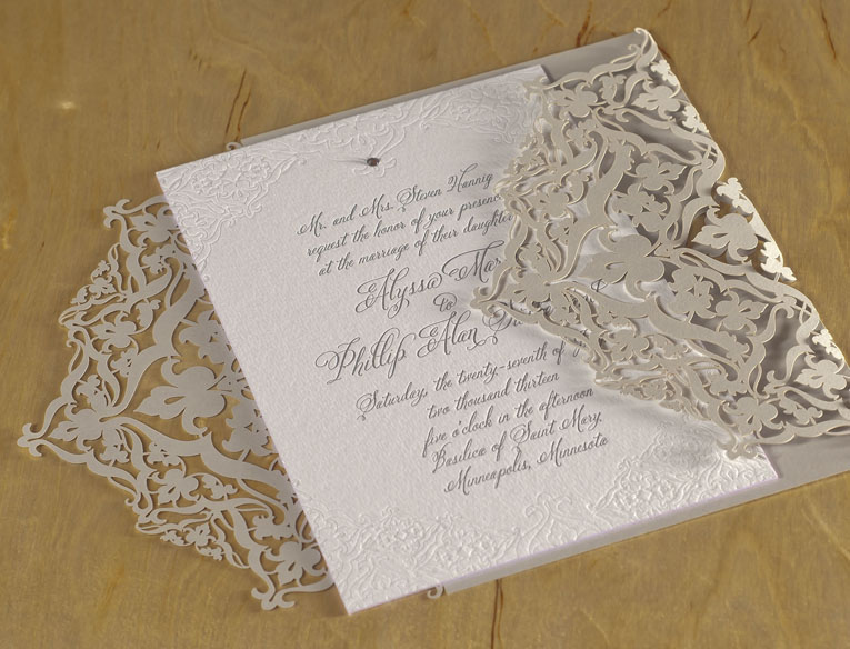 Laser Cut Wedding Invitations | Letterpress Invitations ...
