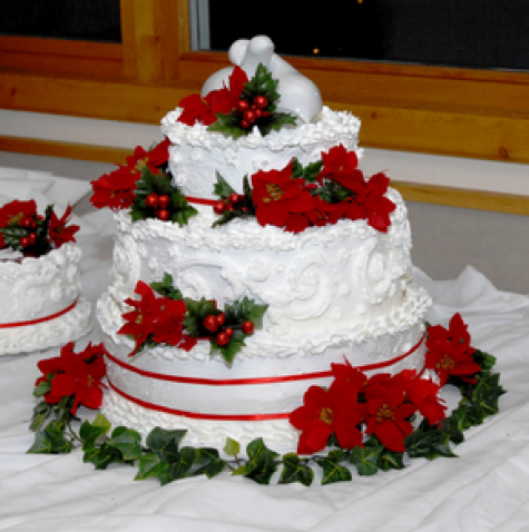 christmas themed wedding cakes inspired amp green theme wedding wedding 12829