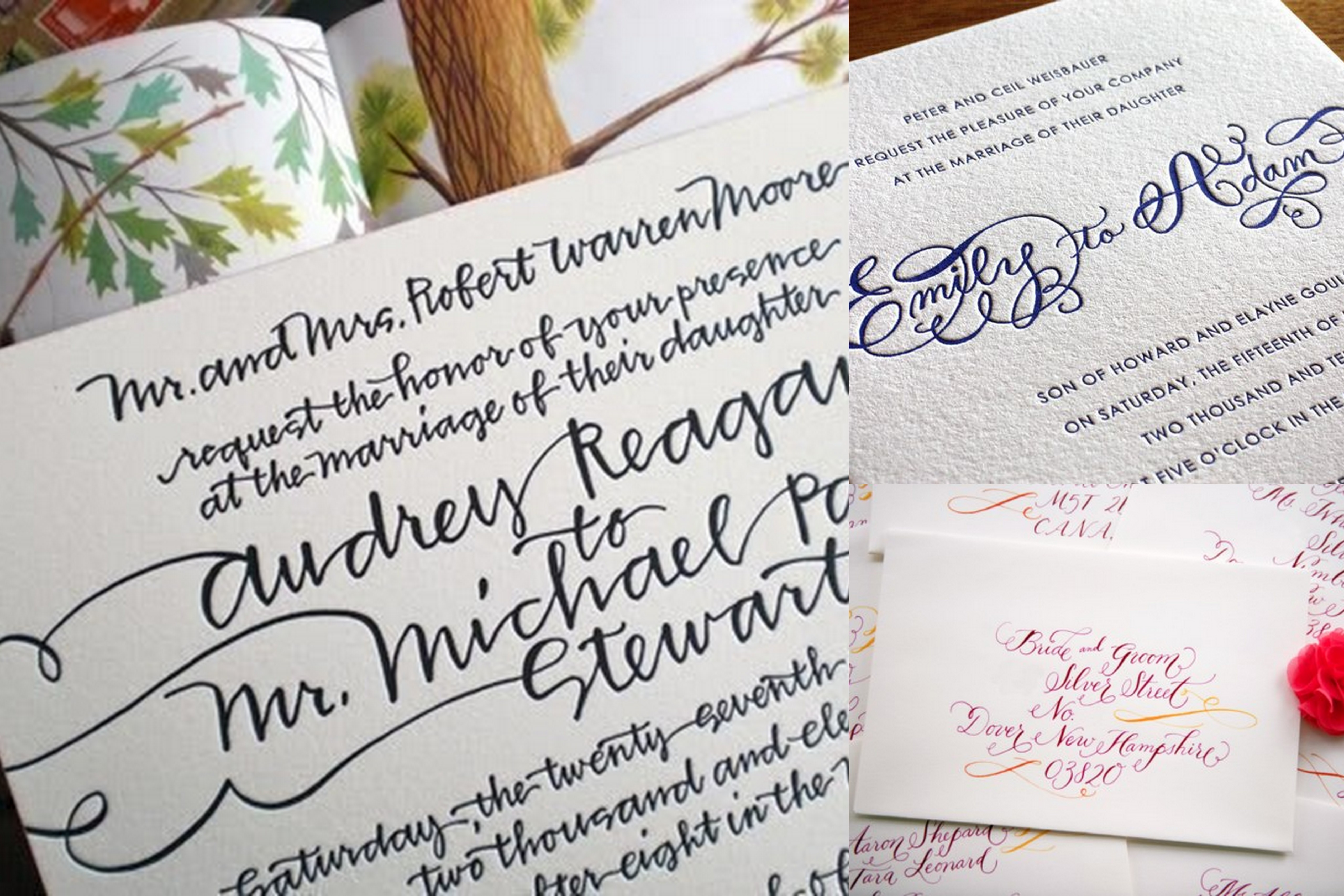 Famous Styles Of Wedding Invitation Cards All Around The Globe – Handwritten Calligraphy Wedding Invitations