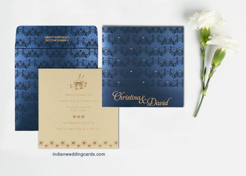 Butterfly Themed Hindu Wedding Cards CIN 8258A