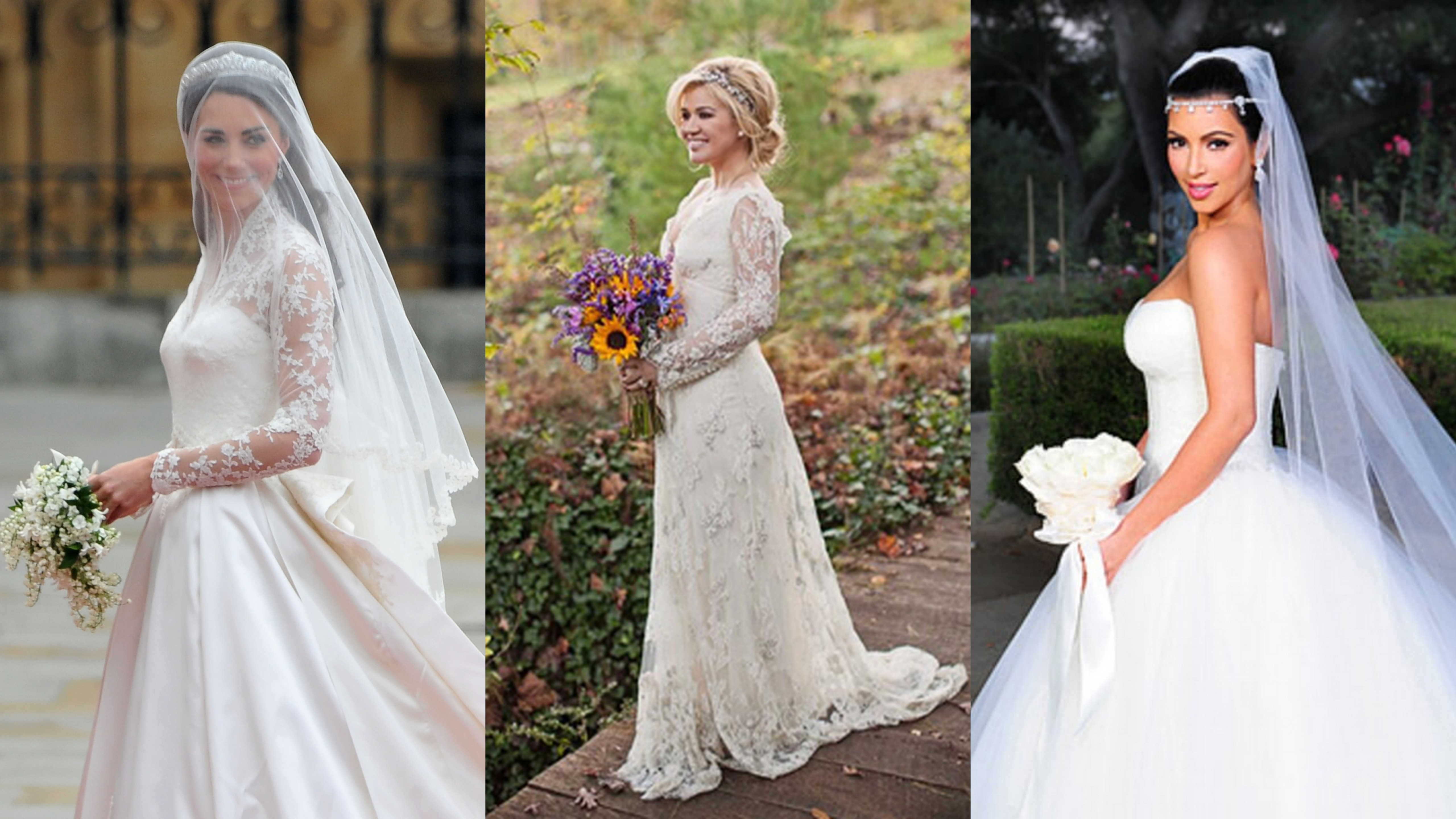 photos of celebrity wedding gowns discount evening dresses