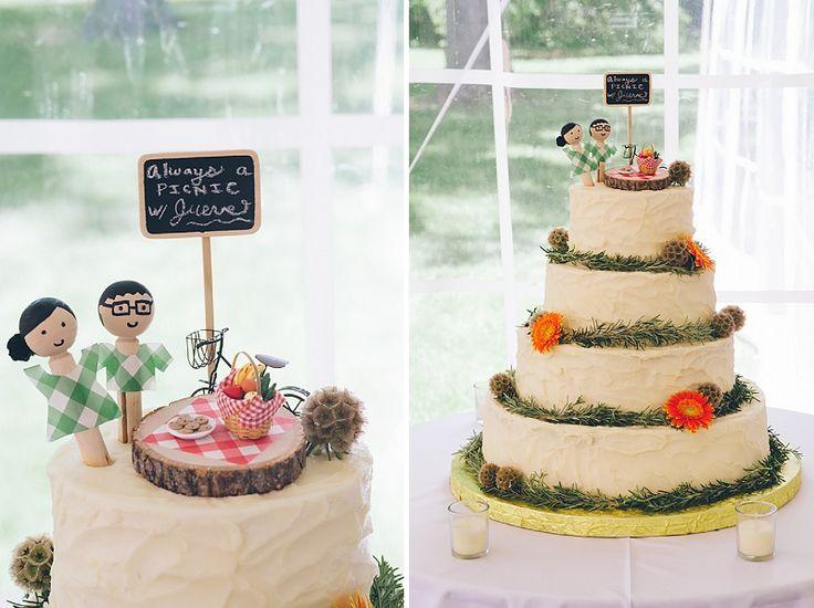 Picnic Inspired Wedding Cake