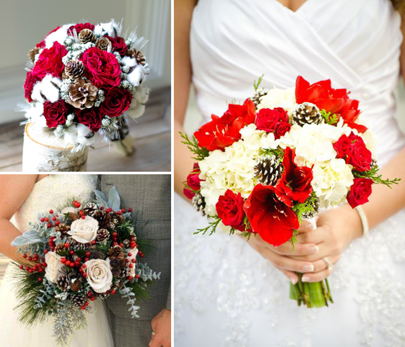 Christmas Inspired Wedding Ideas For Your Winter Bridal Bouquet
