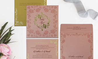Foil Stamped Invitations - IndianWeddingCards