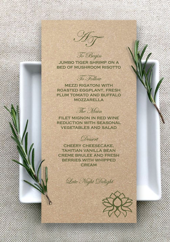 Menu Cards-IndianWeddingCards