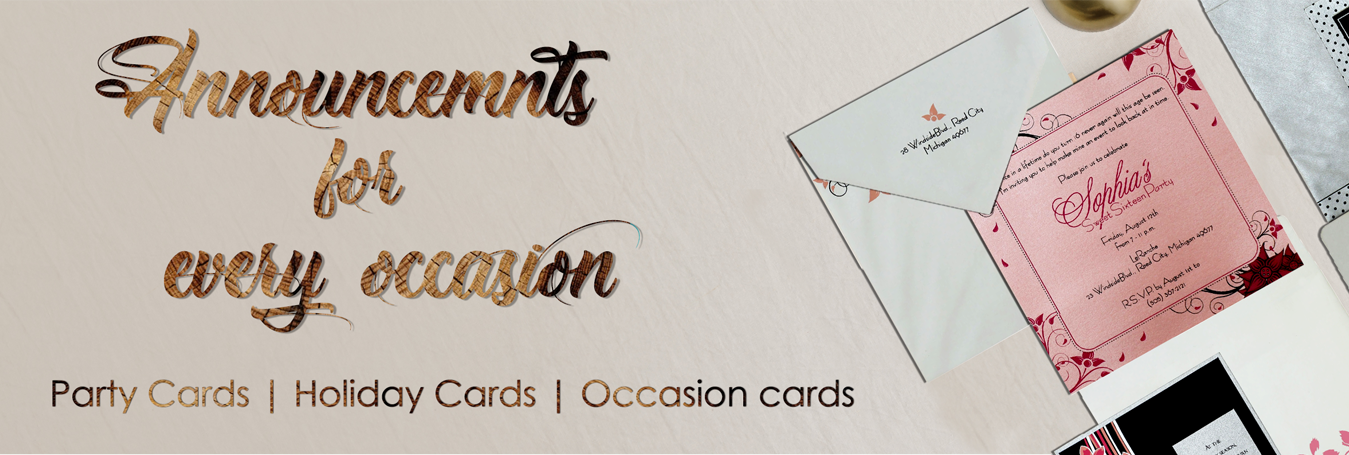 Announcements for every occasion by IndianWeddingCards