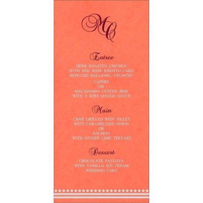 Menu Cards - MENU-5011E