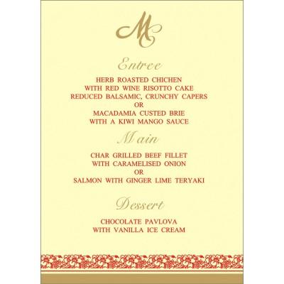 Menu Cards - MENU-8207J