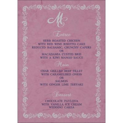 Menu Cards - MENU-8208J