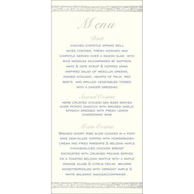 Menu Cards - MENU-8209J
