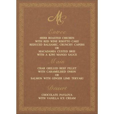 Menu Cards - MENU-8211L
