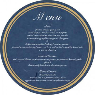 Menu Cards - MENU-8215I