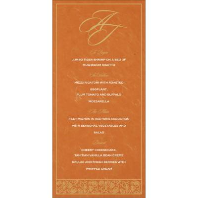 Menu Cards - MENU-8215L