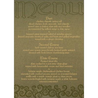 Menu Cards - MENU-8217H