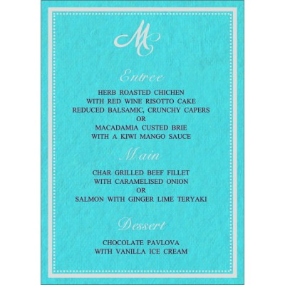 Menu Cards - MENU-8219P