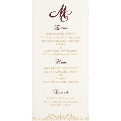 Menu Cards - MENU-8221P