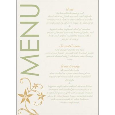 Menu Cards - MENU-8225F