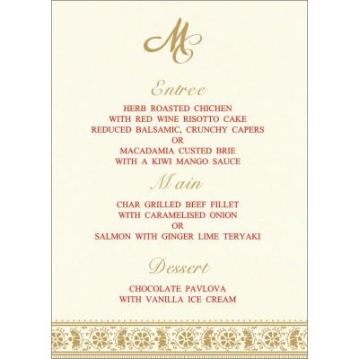 Menu Cards - MENU-8242M