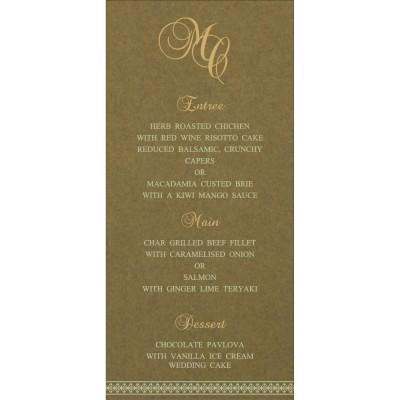Menu Cards - MENU-8247E