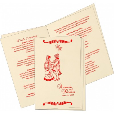 Program Booklet 6648 - IndianWeddingCards