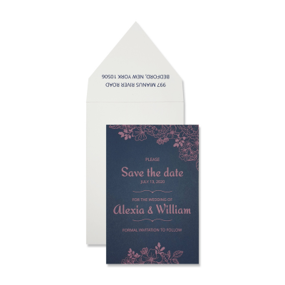 Save The Date 7300 - IndianWeddingCards