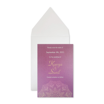Save The Date 7200 - IndianWeddingCards