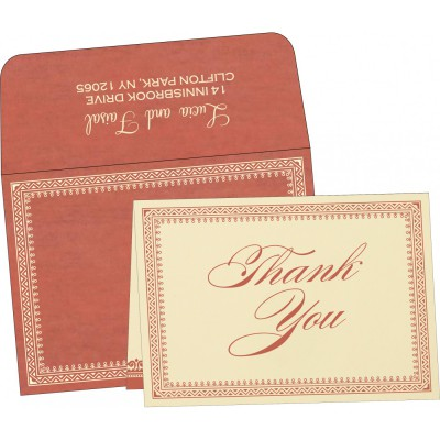 Thank You Cards - TYC-8205M