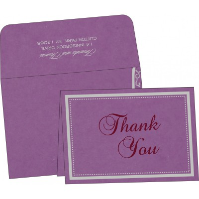 Thank You Cards - TYC-8219O