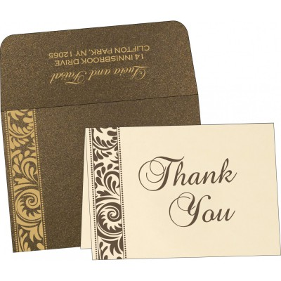 Thank You Cards 2808 - IndianWeddingCards