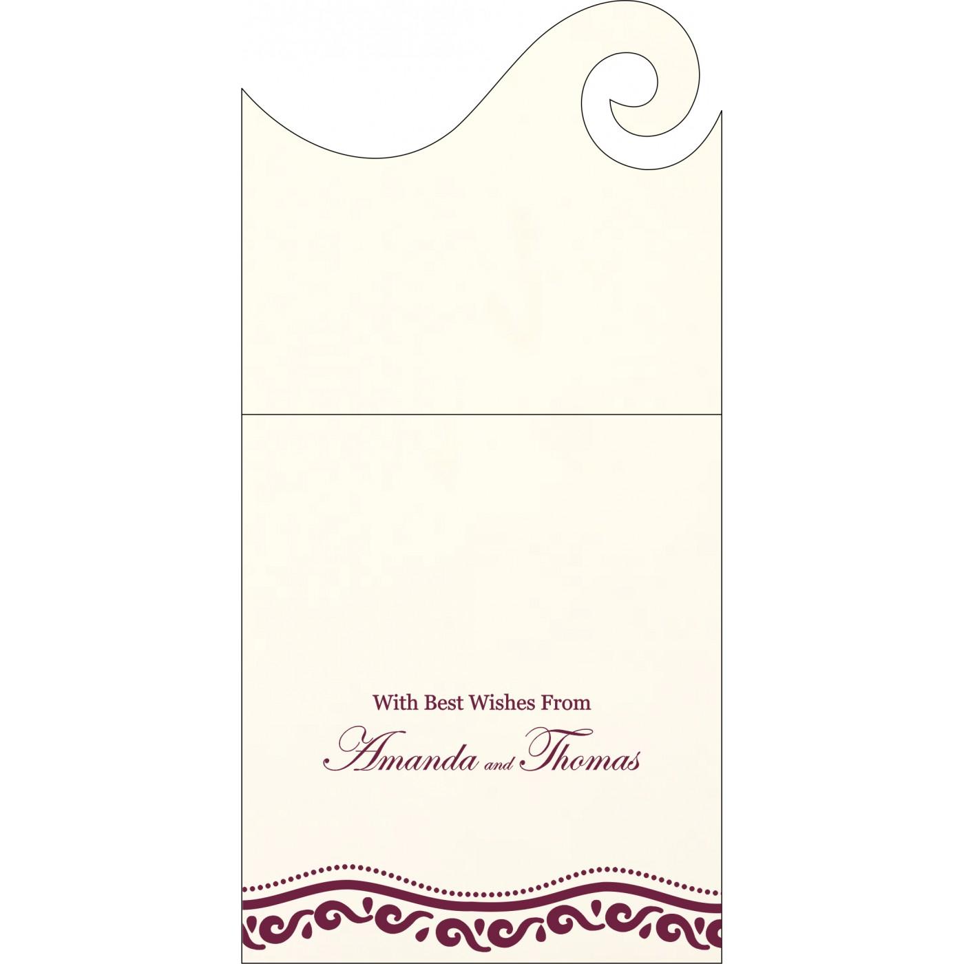 Money Envelopes : CME-1375 - IndianWeddingCards