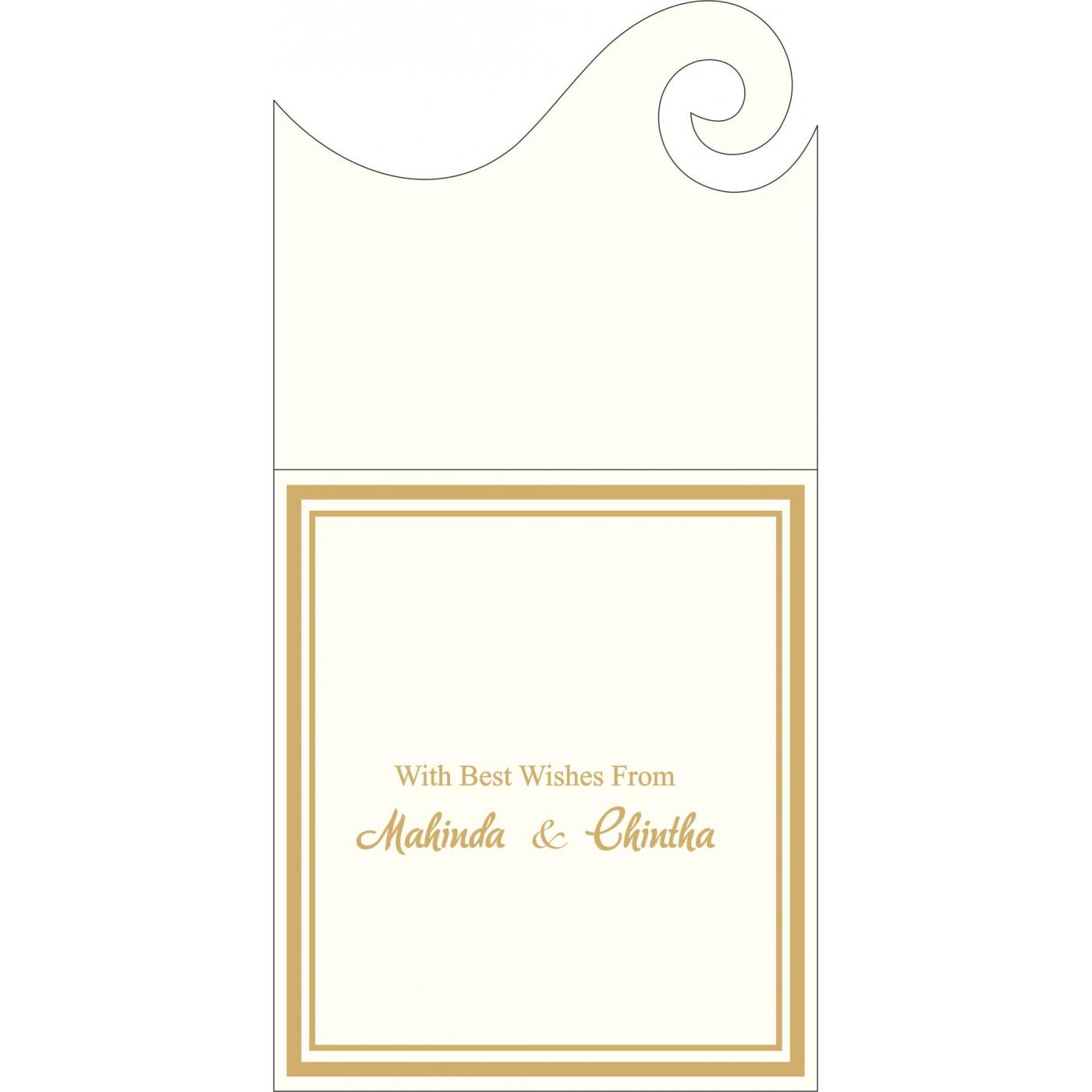 Money Envelopes : CME-2076 - IndianWeddingCards