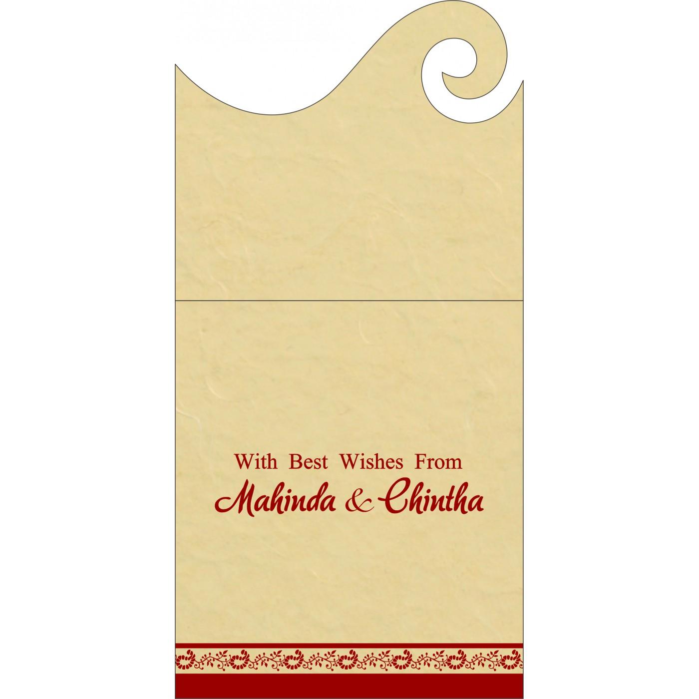 Money Envelopes : CME-8208E - IndianWeddingCards