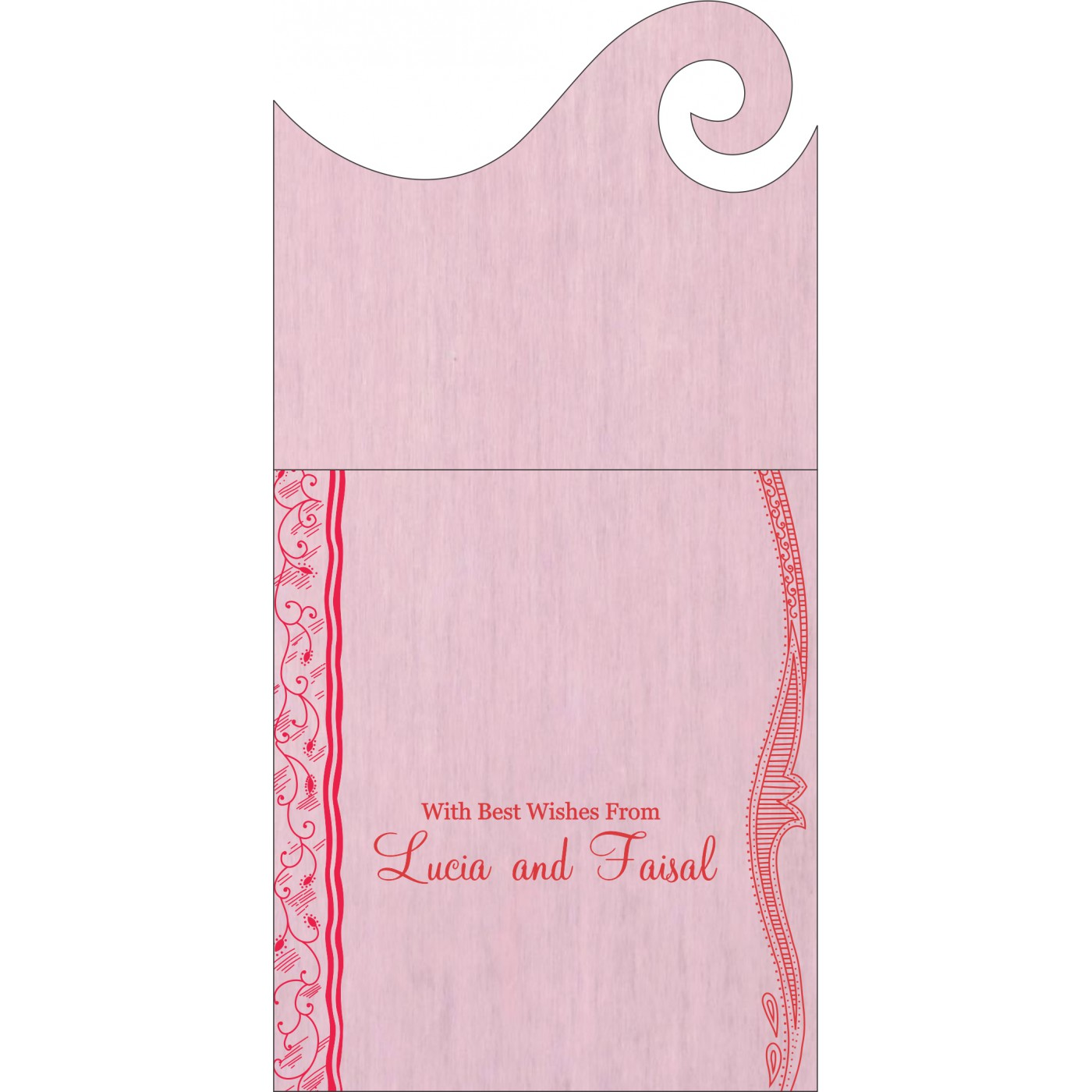Money Envelopes : CME-8210B - IndianWeddingCards