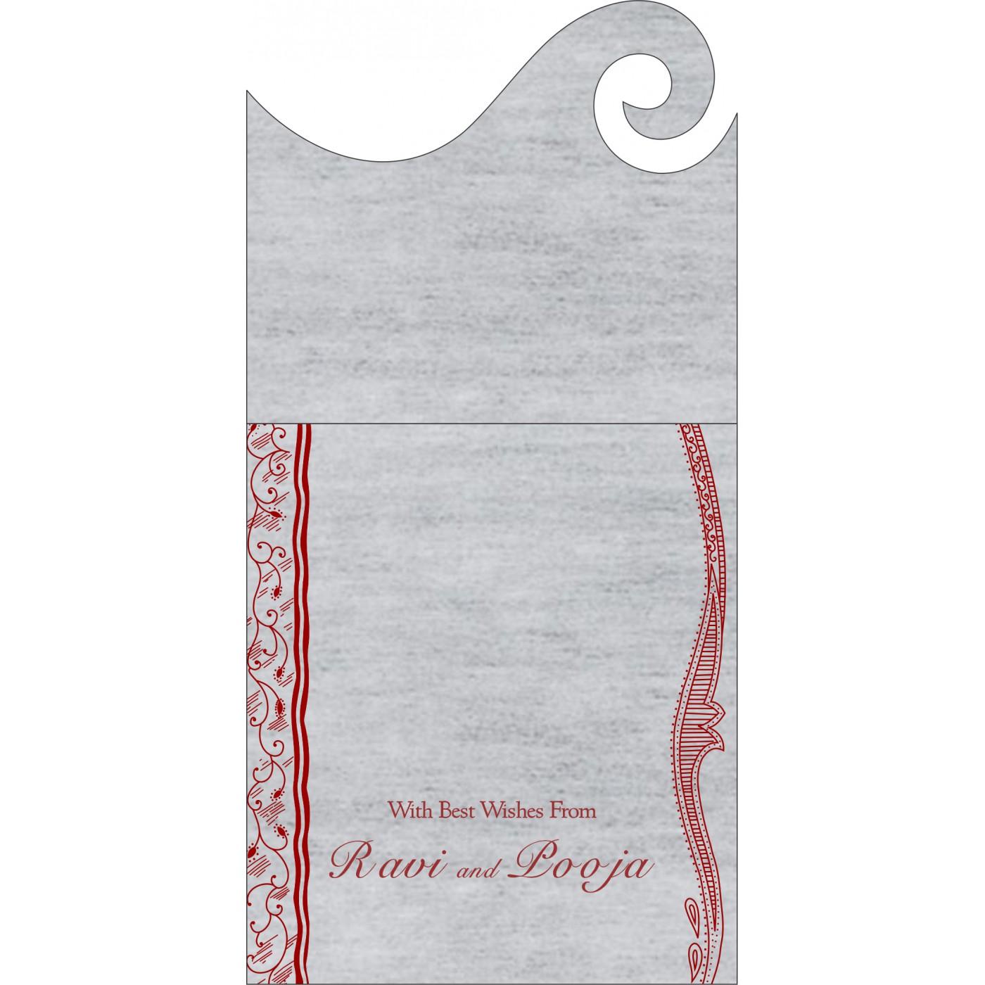 Money Envelopes : CME-8210J - IndianWeddingCards