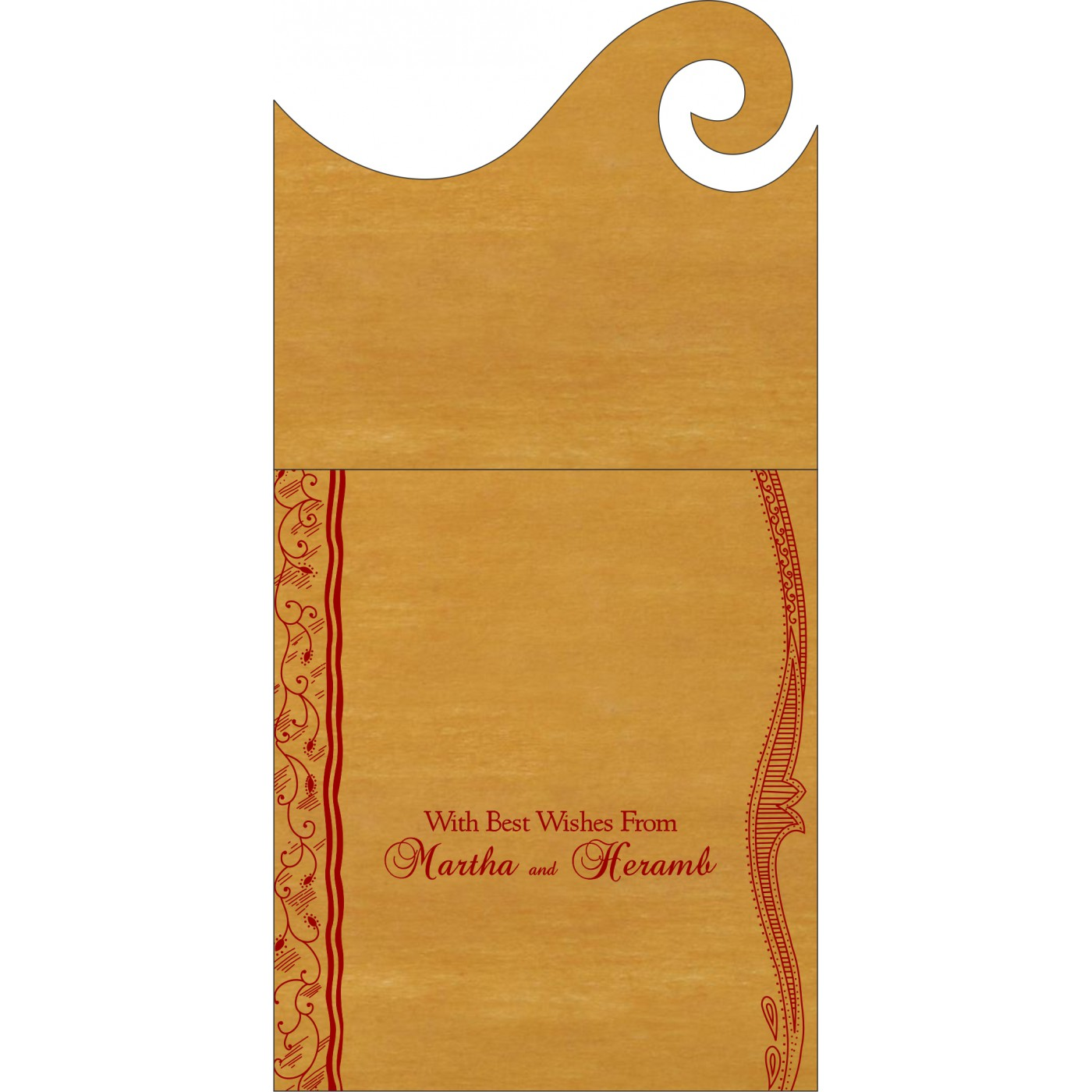 Money Envelopes : CME-8210O - IndianWeddingCards