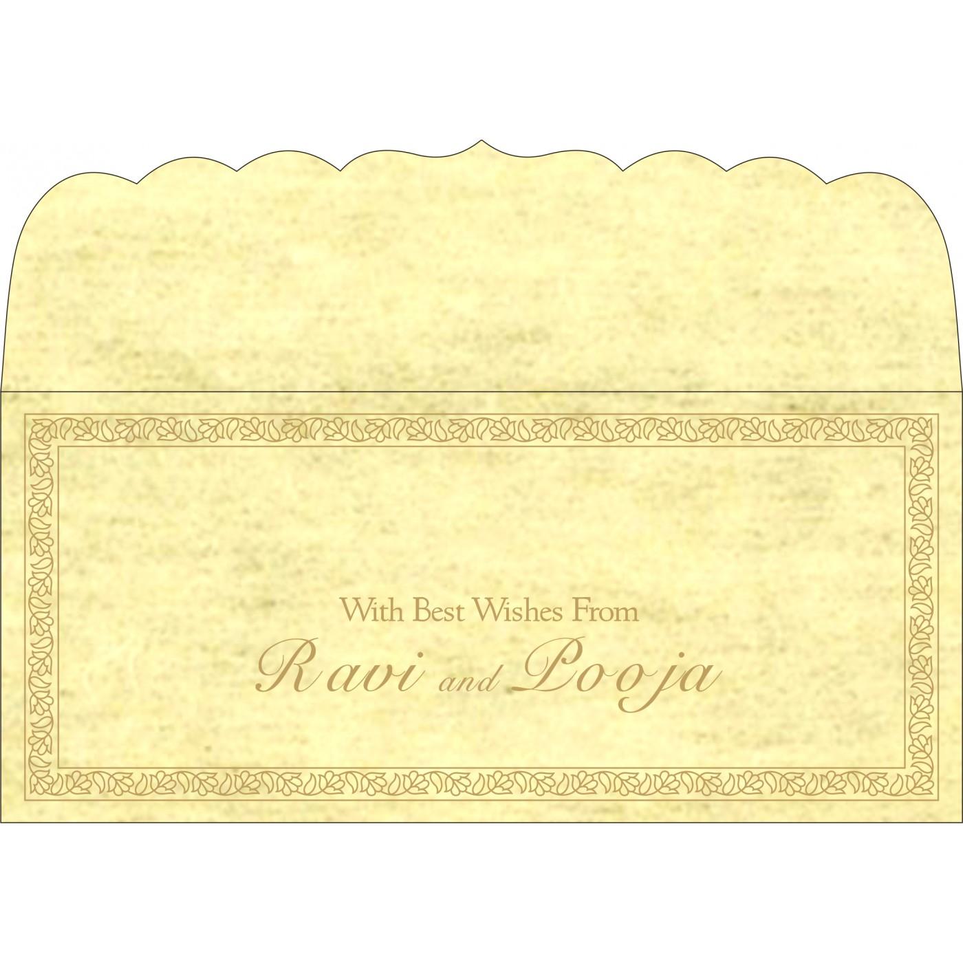 Money Envelopes : CME-8211K - IndianWeddingCards