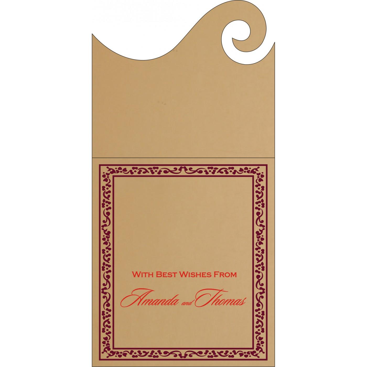 Money Envelopes : CME-8214C - IndianWeddingCards