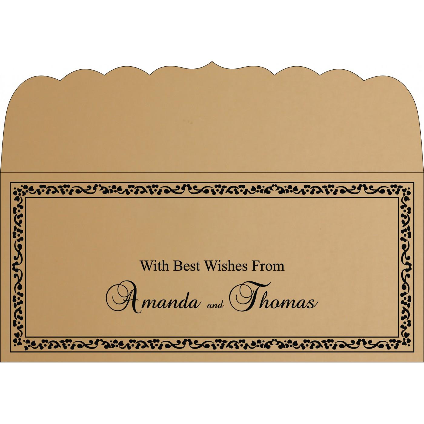 Money Envelopes : CME-8214D - IndianWeddingCards