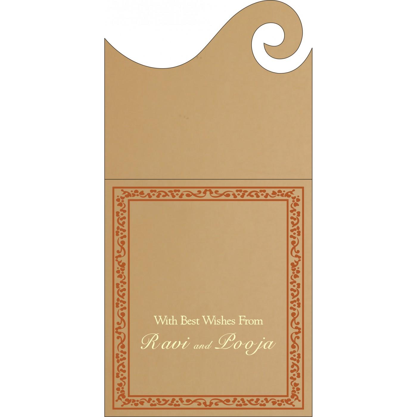 Money Envelopes : CME-8214E - IndianWeddingCards