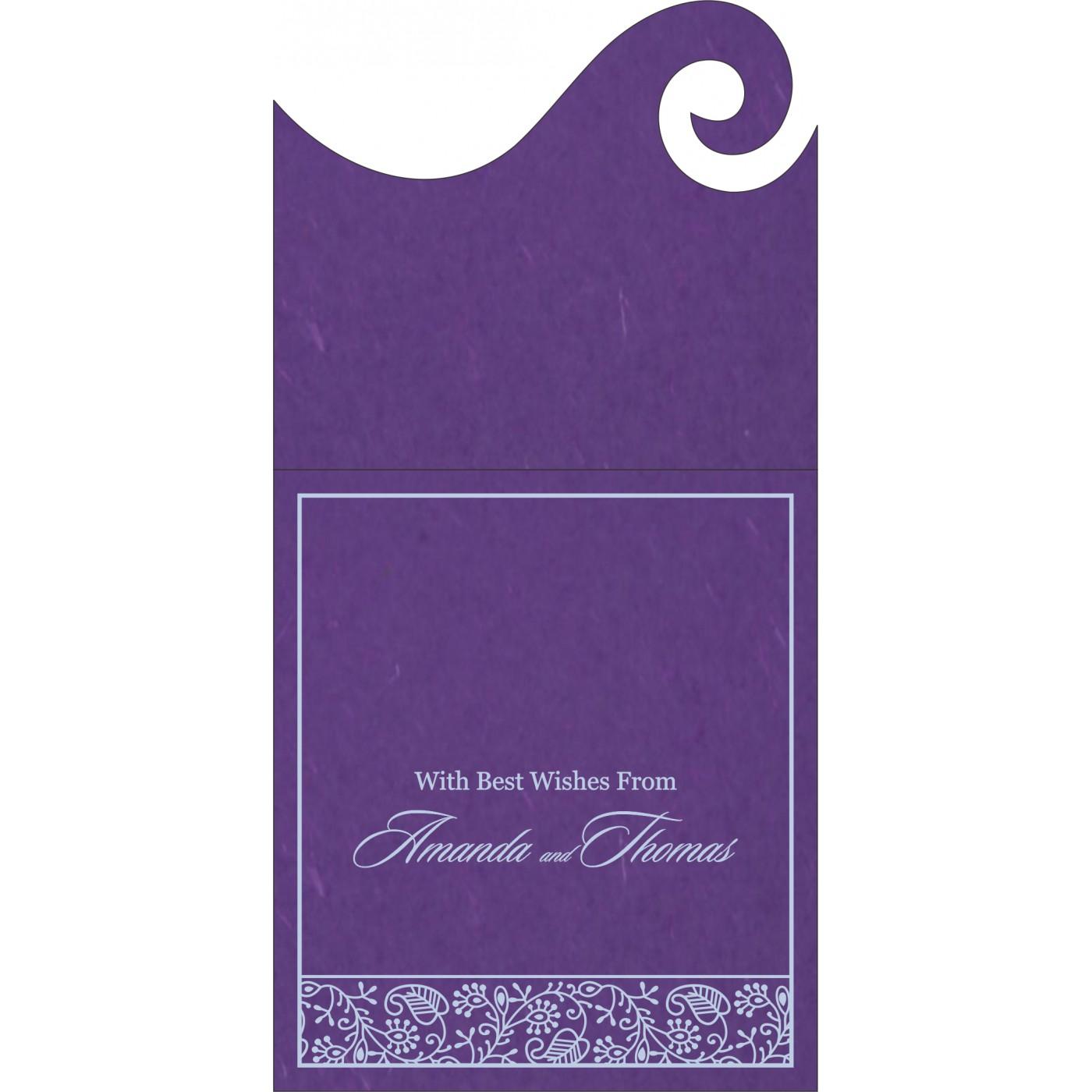 Money Envelopes : CME-8215G - IndianWeddingCards