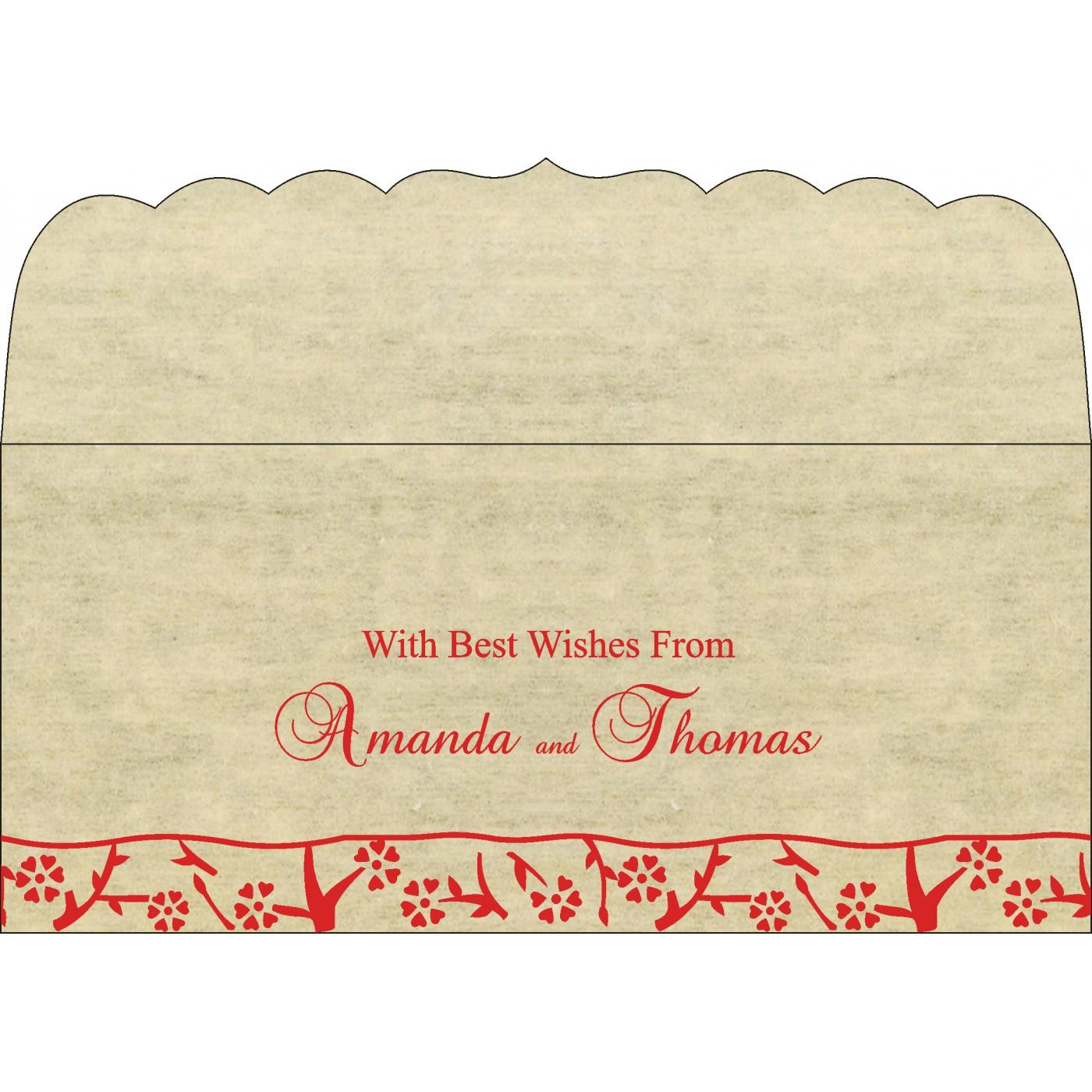Money Envelopes : CME-8216C - IndianWeddingCards