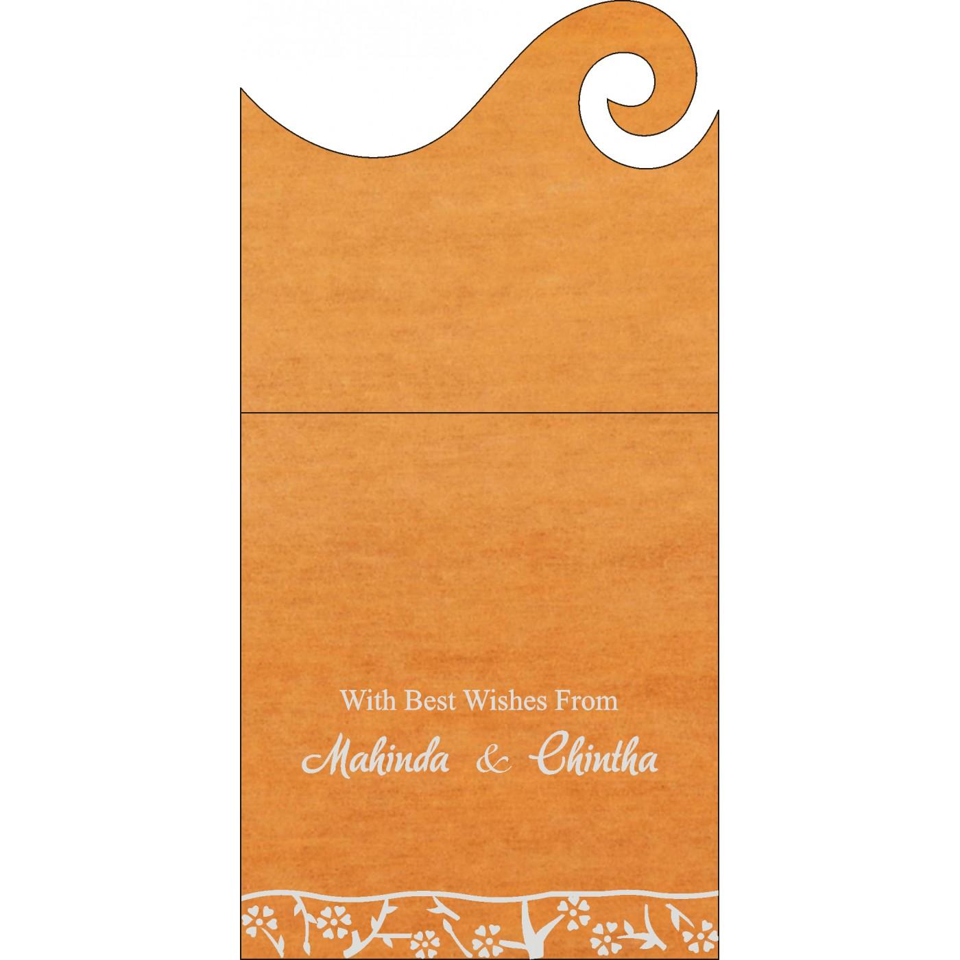 Money Envelopes : CME-8216O - IndianWeddingCards