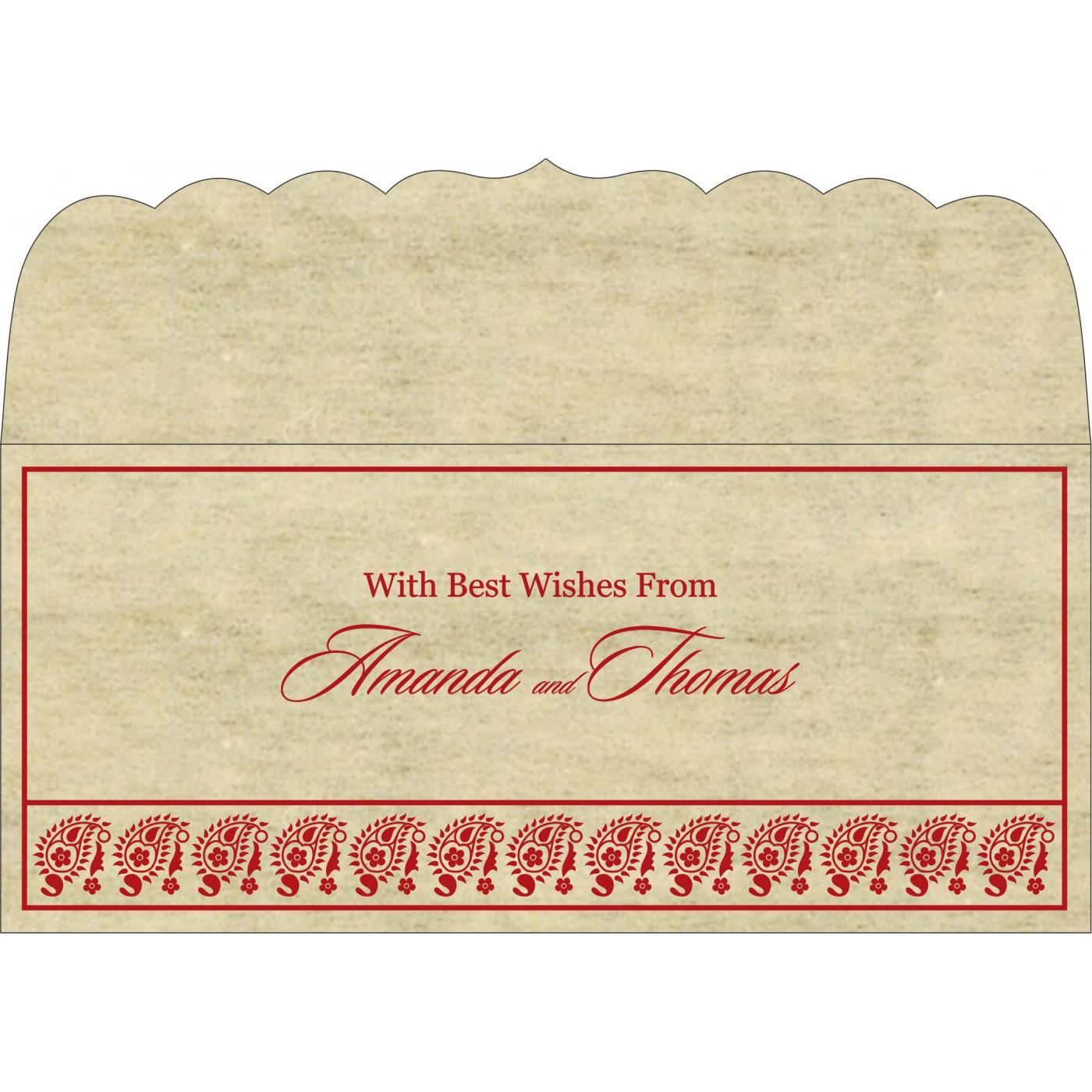 Money Envelopes : CME-8218B - IndianWeddingCards